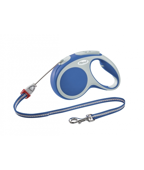 Рулетка – трос для собак до 12кг, 5м, голубая (Vario S cord 5m blue)