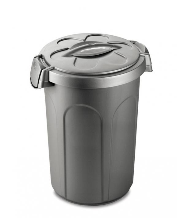 Контейнер Tom 46 л для 16 кг корма, серебряный, 44,5x40x61 см (70500)