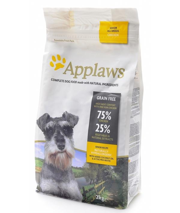 """Беззерновой для Пожилых собак """"Курица/Овощи: 75/25%"""" (Dry Dog Chicken Senior)"""