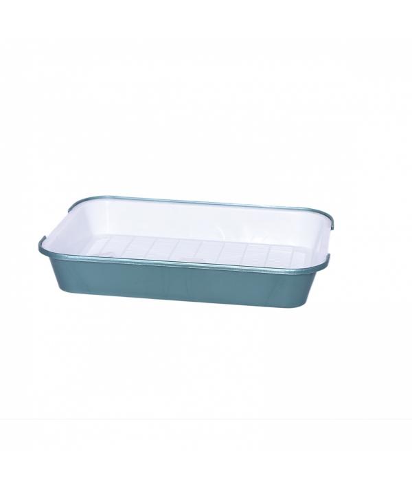 Туалет для кошек с сеткой N 2, поддон 39*28см зеленый