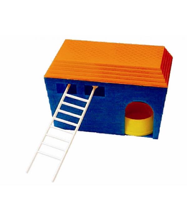 Домик с лестницей для мышей, хомяков, морских свинок (3211)