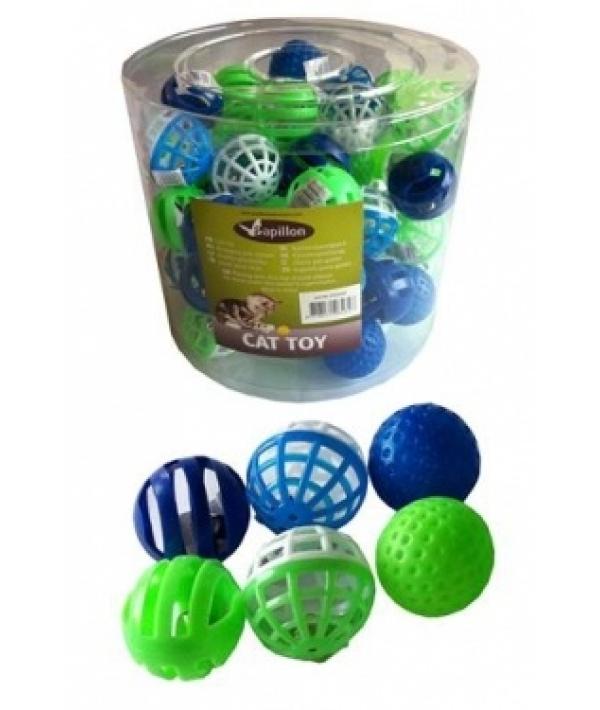 "Игрушка для кошек ""Мяч"", пластик, 4см (Plastic cat ball) 240045"