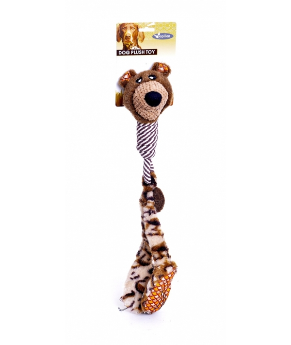 """Игрушка для собак """"Большеногий медведь"""", 50 см плюш и канат / Plush big feet camouflage 50 cm 140090"""