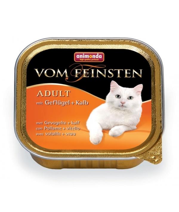 Консервы для кошек с домашней птицей и телятиной (Vom Feinsten Classic), 83200