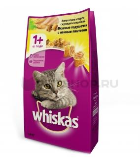 Сухой корм для кошек паштет из куры и индейки, подушечки 10150144