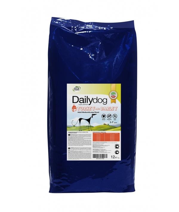 Для взрослых собак средних и крупных пород с индейкой и ячменем (ADULT MEDIUM&LARGE BREED Turkey and barley) 242ДД