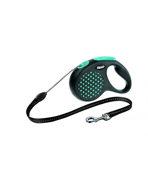 Рулетка – трос для собак до 20кг, 5м, голубая (Design M Cord 5 m, blue)
