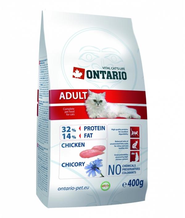Для взрослых кошек с курицей (ONTARIO Adult 0,4kg) 213 – 0024