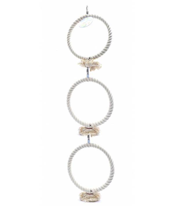 """Игрушка для попугаев """"Тройное кольцо"""" 3*22 см (Coco medium toy 3 rings) 14437"""