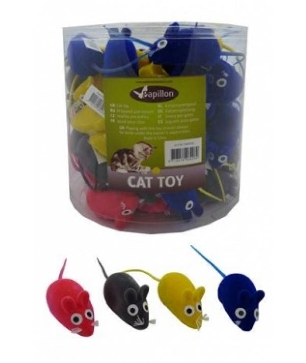 "Игрушка вельветовая ""Мышка – норушка"" 6см, (Velvet mouse) 240030"