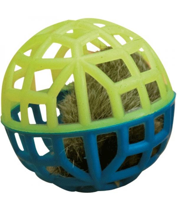 """Игрушка """"Погремушка"""" для кошки сетчатая с мехом и колокольчиком, 1шт. (164141)"""