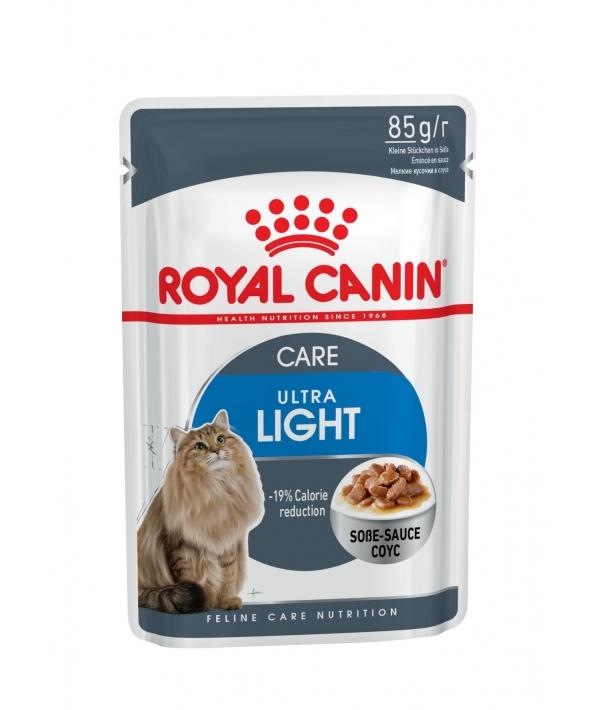 Кусочки в соусе для кошек: 1–10 лет, низкокалор. (Ultra Light) 486001