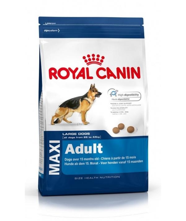 Для взрослых собак крупных пород (26–44 кг): 15 мес.– 5 лет (Maxi Adult) 122150/ 122115