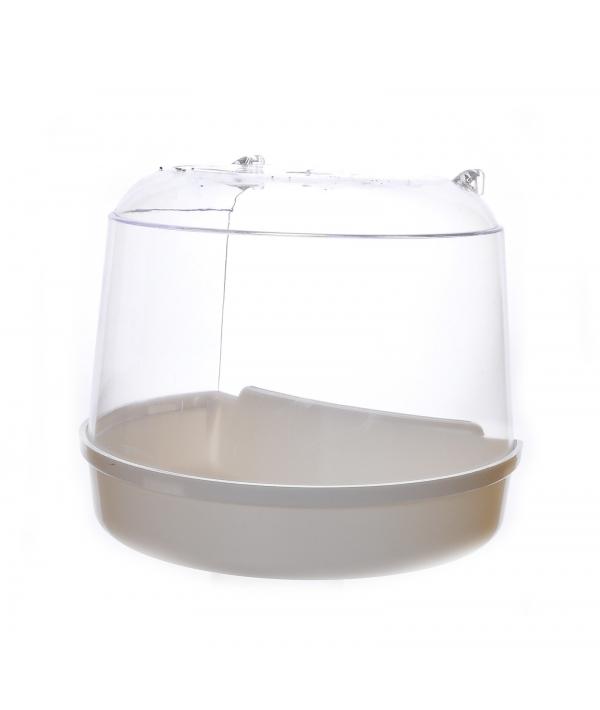 Ванночка для птиц для круглой клетки 15*11*12.5 см (Bird bath for round cage 15x11x12.5 cm) 14402..