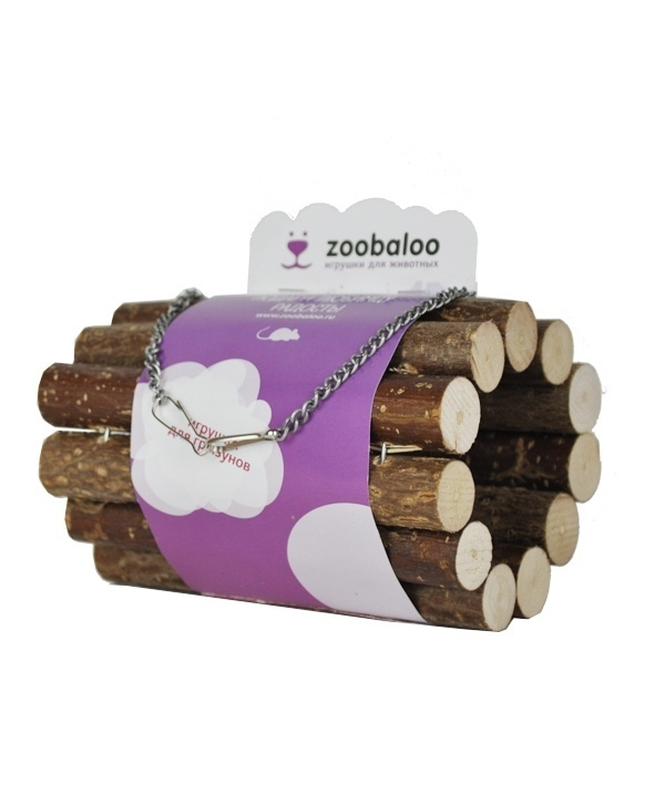 Тоннель для грызунов на цепи малый из орешника L: 10х7х20см (657)
