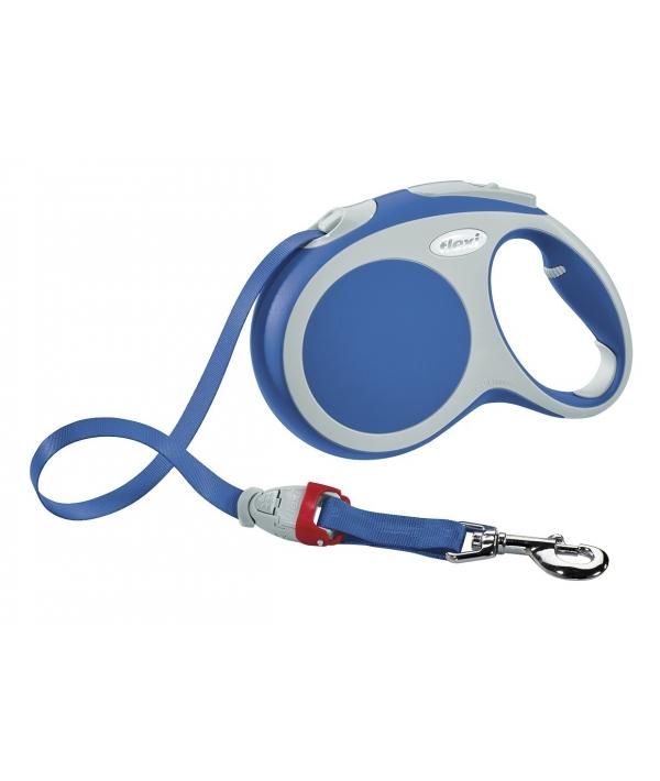 Рулетка – ремень для собак до 15кг, 5м, голубая (Vario S tape 5m blue)