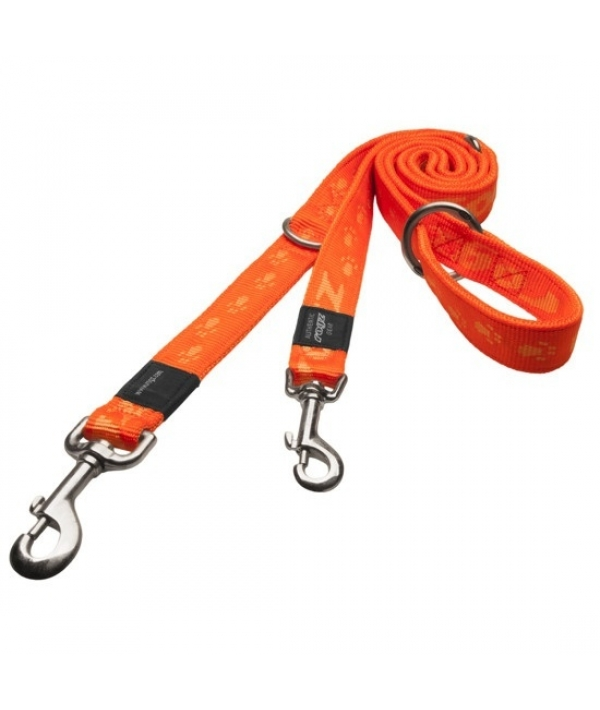 "Поводок – перестежка серия ""Alpinist"", размер M, ширина 1,6см, длина 1,0 – 1,3 – 1,6м, оранжевый (MULTI PURPOSE LEAD) HLM23D"