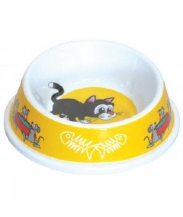 "Миска ""Кошки – мышки"" для кошек разноуровневая 150мл, пластик (5619044)"