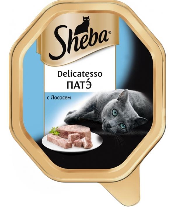 Консервы для кошек Delicatesso патэ с лососем 10169415