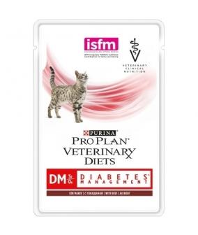 Кусочки в соусе для кошек при сахарном диабете с говядиной (Feline DM)
