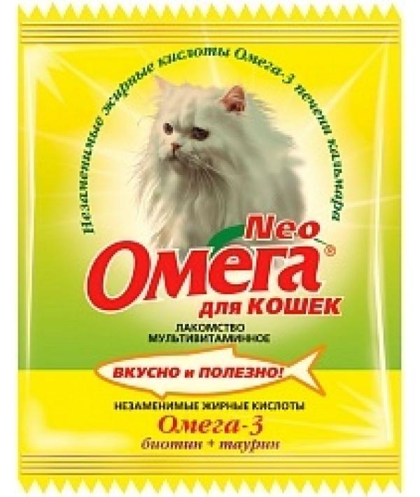 Омега Neo витамины для кошек с биотином и таурином,15 таб.(саше)