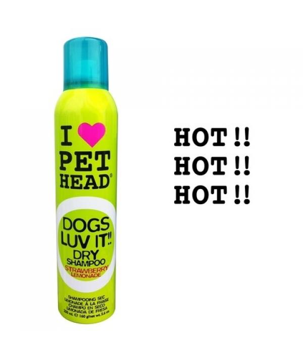 """Сухой шампунь для собак """"Клубничный Лимонад"""" без смывания, без сульфатов и парабенов (DOGS LUV IT!!) 50443"""
