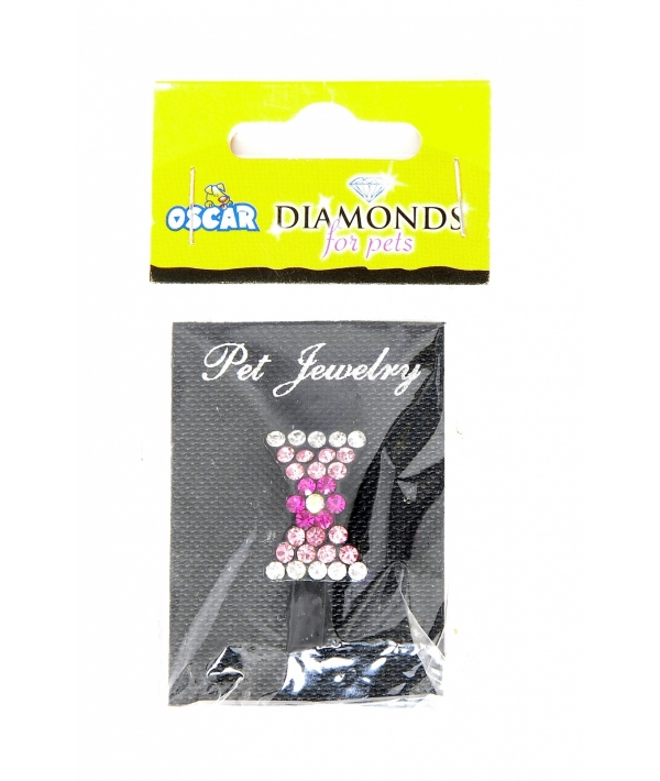 "Украшение на ошейник ""Бантик"", 3,5*1,5*1 см (Jewelry diamond) 52564"