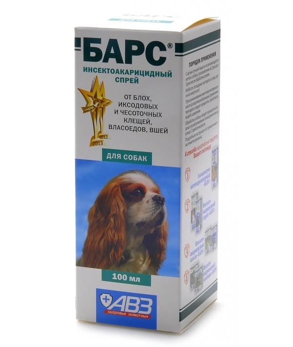 Барс Спрей для собак от блох и клещей инсектоакарицидный АВ766