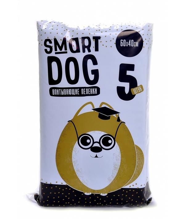 Впитывающие пеленки для собак 60*40, 5 шт