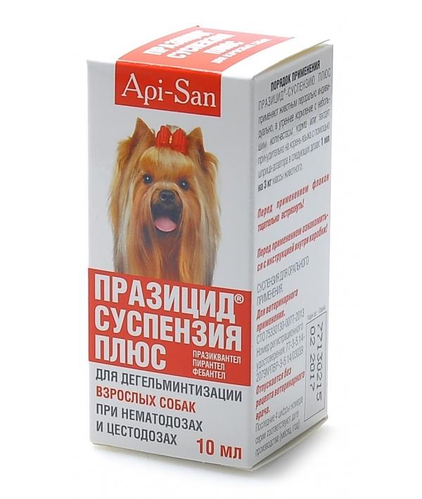 Празицид от глистов для собак, суспензия плюс