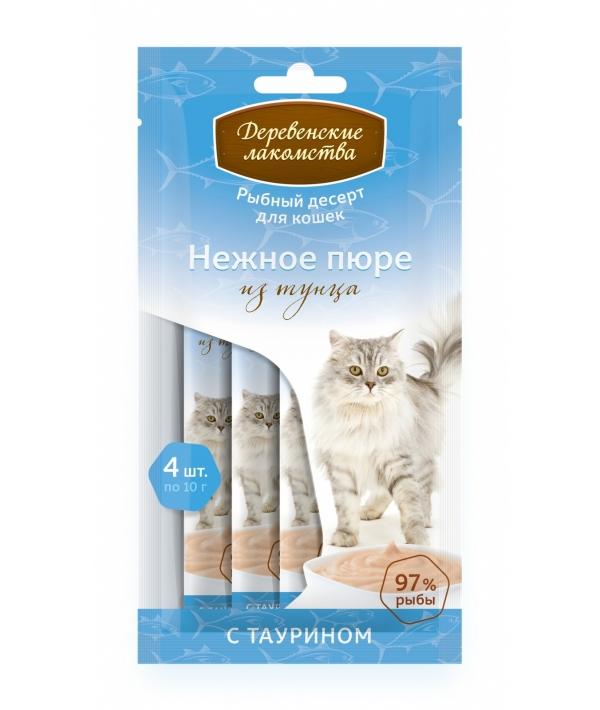 Нежное пюре для кошек из тунца 1*4шт.
