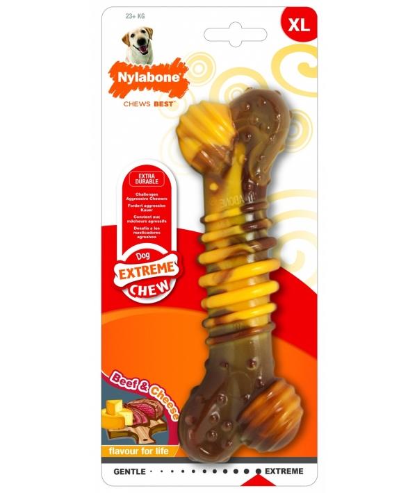 Текстурная косточка экстра – жесткая, аромат говядины и сыра, XL (Extreme Chew Texture Bone – Steak & Cheese) 983435EU