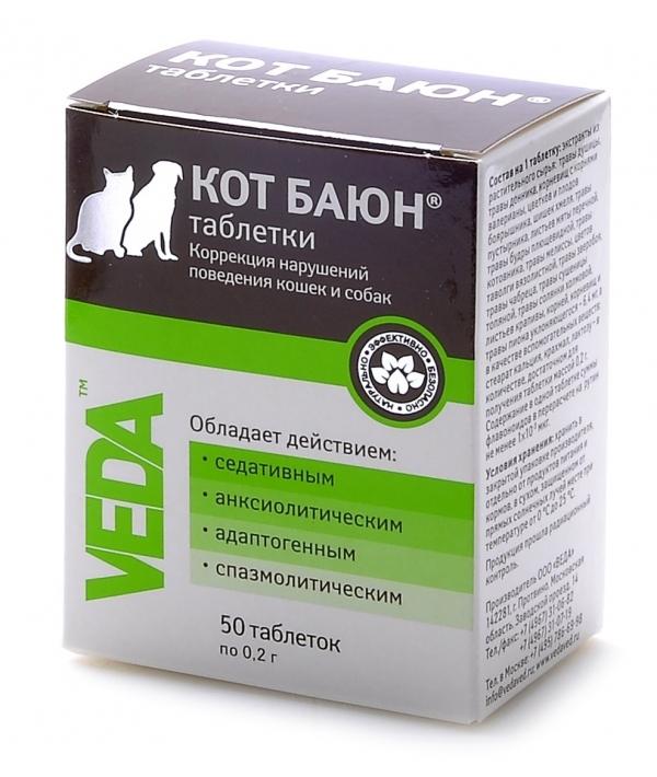 Кот Баюн для коррекции поведения собак и кошек, 50таб.