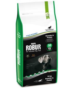 Robur Для щенков с курицей, кукурузой и рисом (Breeder 30/15)