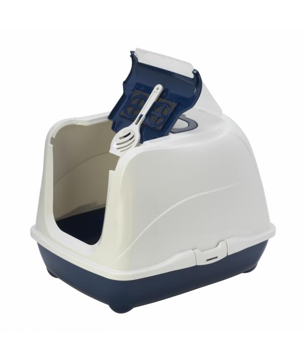 Туалет – домик Jumbo с угольным фильтром, 57х44х41см, черничный (Flip cat 57 cm) MOD – C240 – 331 – B.