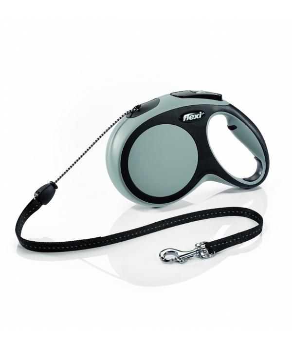 Рулетка – трос для собак до 12кг, 5м, серая (New Comfort S Cord 5 m, grey)