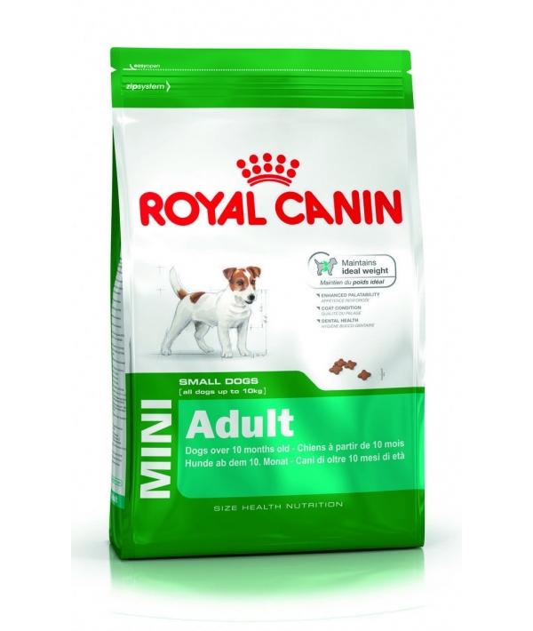 Для взрослых собак малых пород (до 10 кг): 10 мес.– 8 лет (Mini Adult) 306040/ 306140
