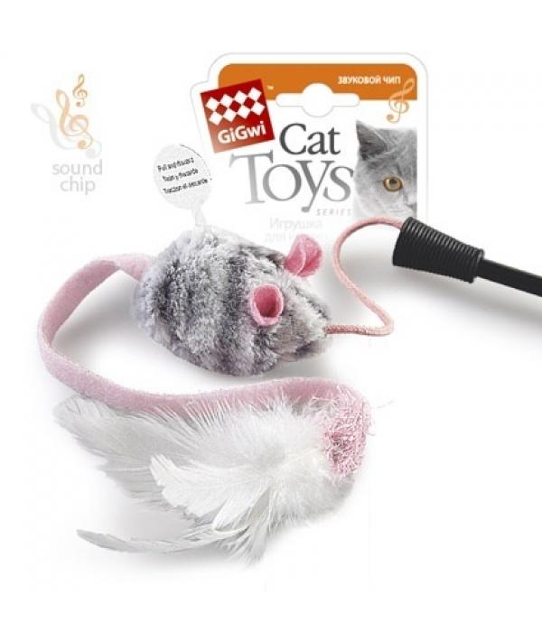 Игрушка для кошек Дразнилка на стеке с музыкальным чипом (75111)50184