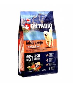 Для собак крупных пород с 7 видами рыбы и рисом (Ontario Adult Large 7 Fish & Rice 2,25kg) 214 – 10775