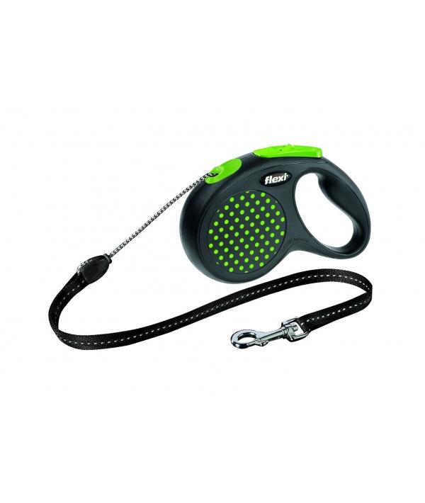 Рулетка – трос для собак до 20кг, 5м, зеленая (Design M Cord 5 m, green)
