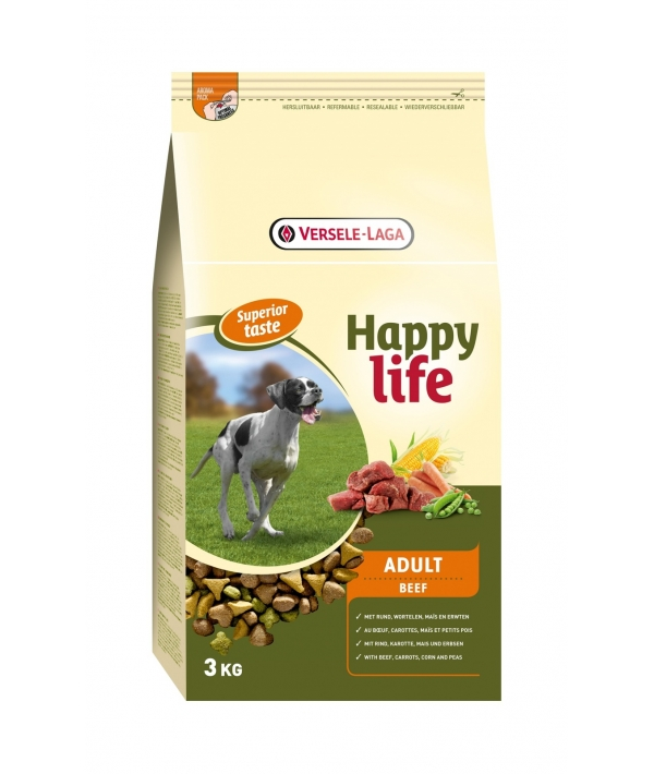Для собак с говядиной (Happy life Adult Beef) 431104