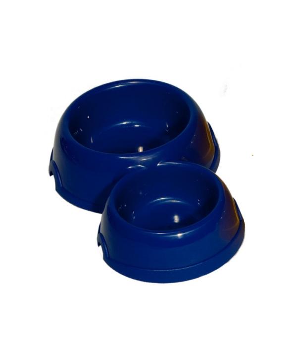 Двойная круглая миска для кошек пластиковая, 150 и 250мл (2311)