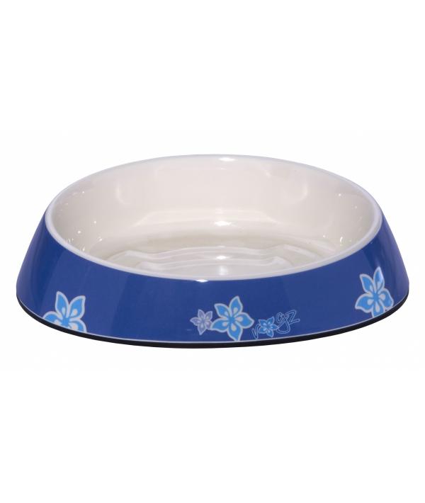 """Миска для комфортного кормления """"Fishcake"""" 200 мл, """"Синие цветы"""" (MELAMINE CAT BOWL) CBOWL31B"""