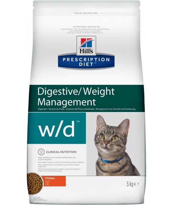 w/d для Кошек: Лечение сахар. диабета, запоров, расстройств ЖКТ (Low Fat/Diabet) 4328R