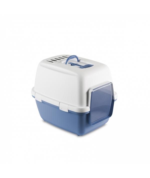 Туалет – домик Cathy Comfort с уголным фильтром и совочком, голубой, 58х45х48см (97590)
