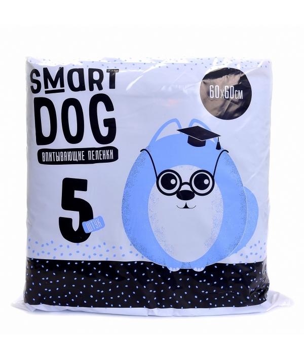 Впитывающие пеленки для собак 60*60, 5 шт