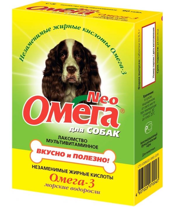 Омега Нео витамины для собак с морскими водорослями, 90таб.(13016)