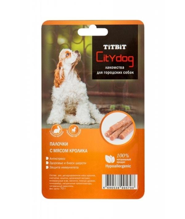 Снек City Dog палочки с мясом кролика – Б2 – S (005798)