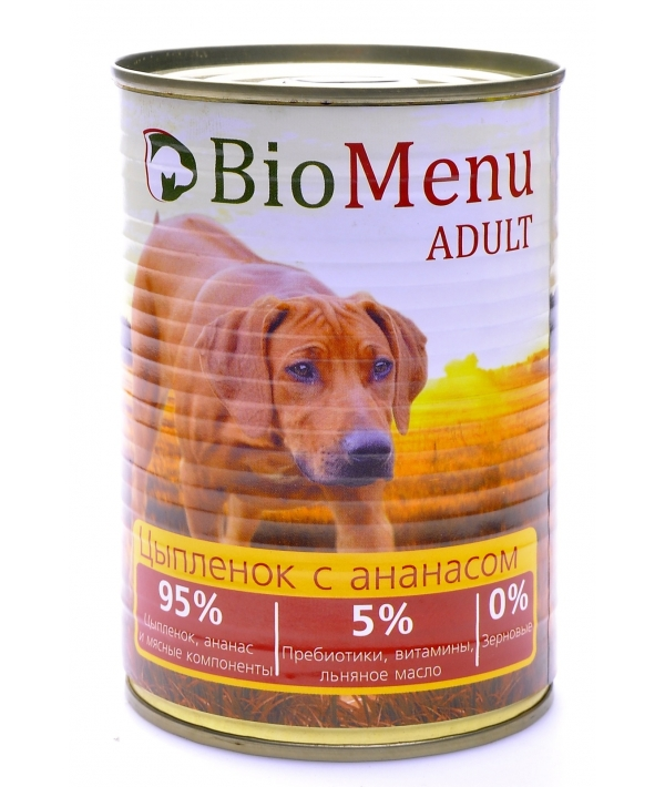 Консервы для собак Цыпленок с ананасом (74015/45413)