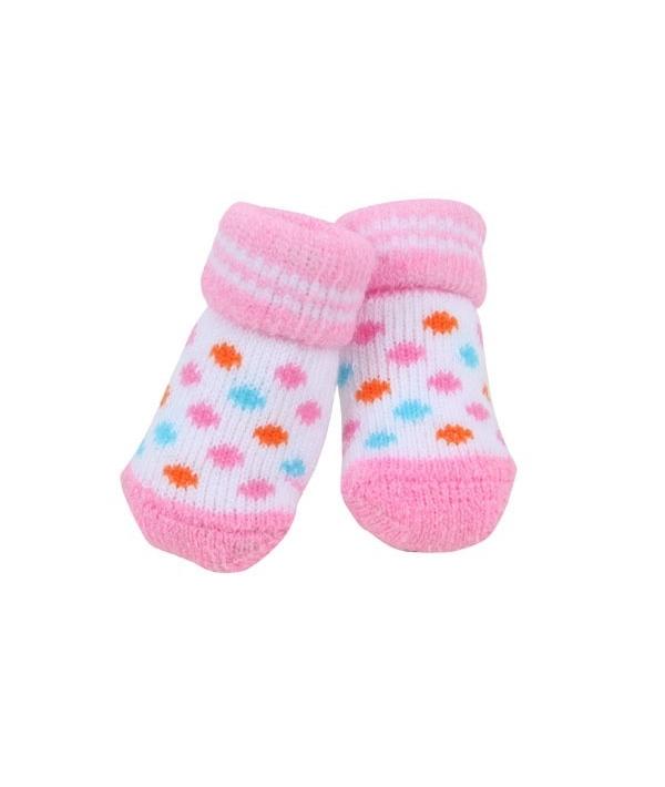 Носочки для собак в горошек, розовый, размер S (8 см х 3 см) (POLKA DOT II/PINK/S) PAOC – SO1269 – PK – S